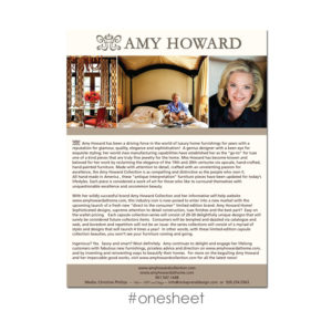 MARC FRANCOEUR DESIGN - Amy Howard One Sheet